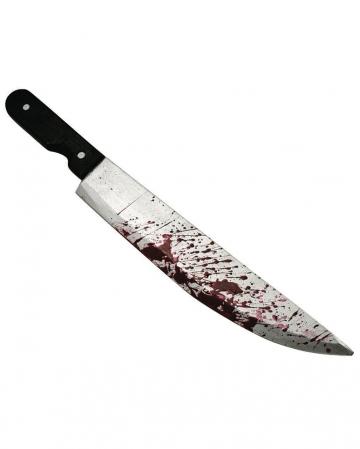 Bloody butcher knife