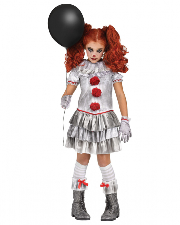 Bad Fair Clown Girl Child Costume
