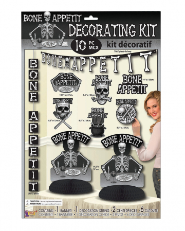 Bone Appetite Decoration Set 10 Pieces