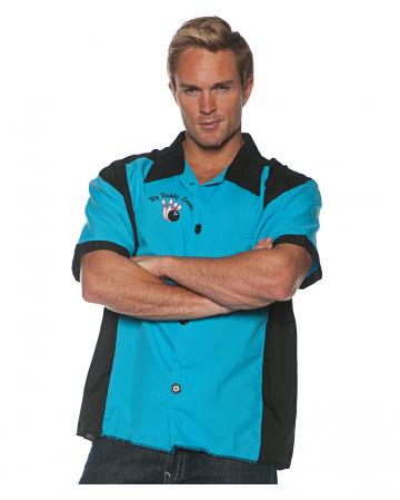 Bowling Kostümshirt blau