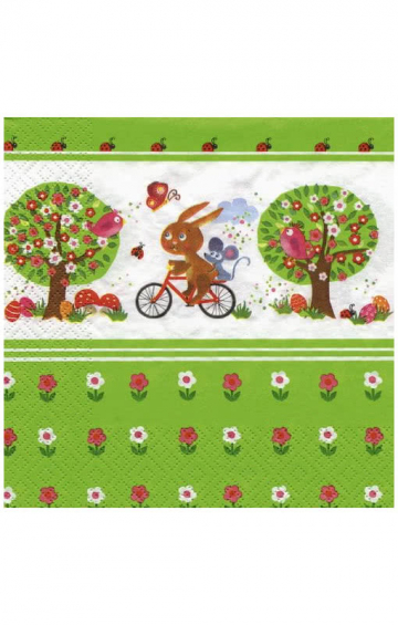 Colorful Easter napkins