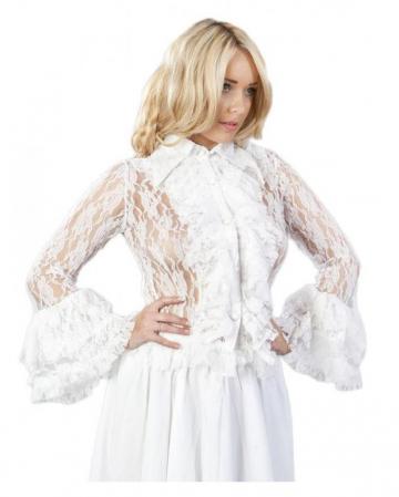 Burleska Spitzen Bluse weiß