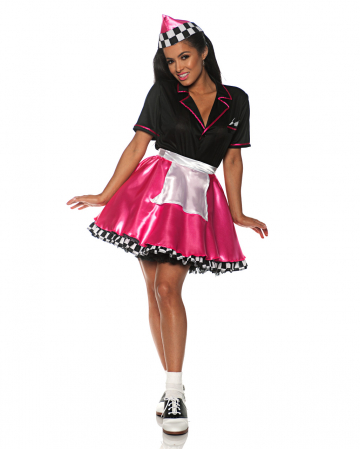 Car Hop Girl Costume pink