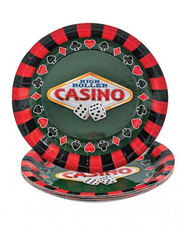 Casino Pappteller klein