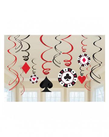 Casino Party - 12 spiral hanger