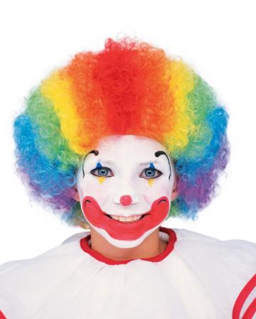 Clown Child Wig Multi Color