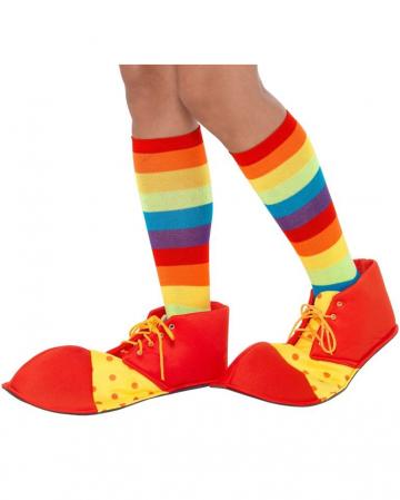 Clown Schuhe rot-gelb