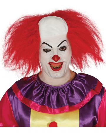 Clowns Perücke mit Halbglatze