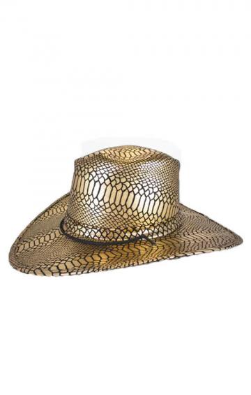 Cowboy hat gold / black