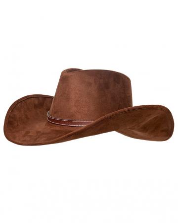 Cowboyhut braun im Wildleder Look