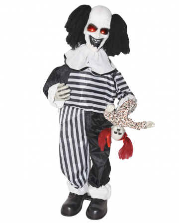 Creepy Clown mit Puppe Standfigur