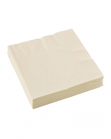 Cream colored napkins 20 pcs