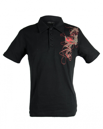 Tape Skull Polo Shirt