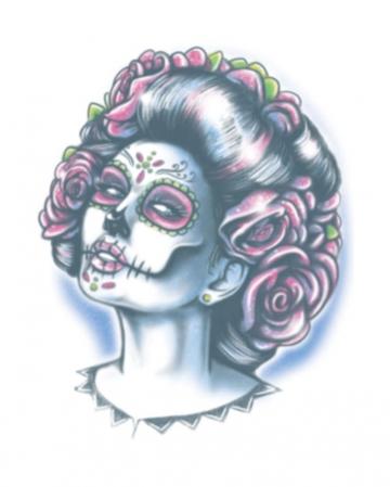 Day Of The Dead Glue Tattoo Senora Muerte