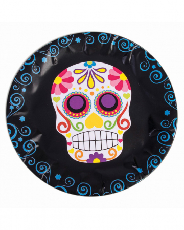 Day Of The Dead Sugar Skull Paper Plate