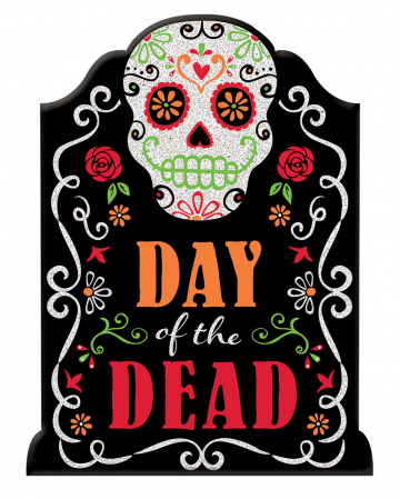 Day of the Dead Schild mit Glitter-Schrift