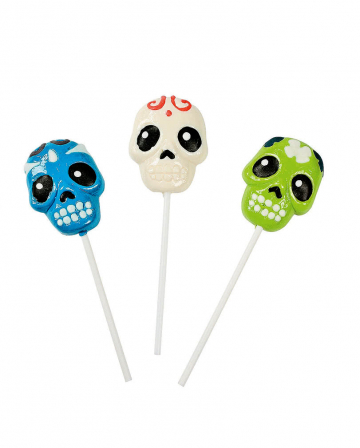 Day Of Dead Skull Lollipop 12 Pcs.