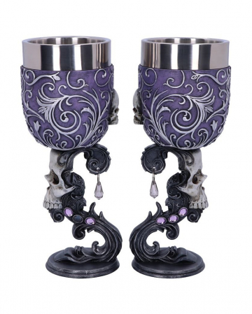 Death Desire Skull Goblet - Set Of 2