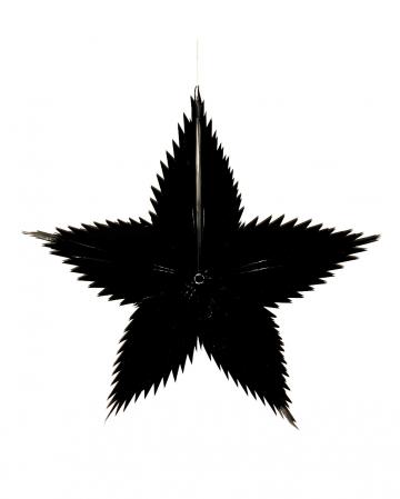 Deko Stern schwarz 65cm