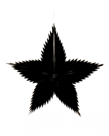 Decoration Star Black 65cm