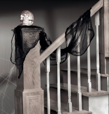 Halloween decoration fabric black