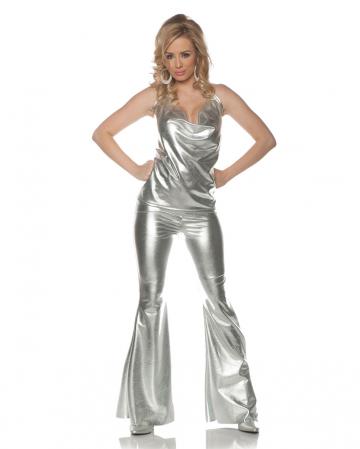 Disco Costume Silver 2 Pieces