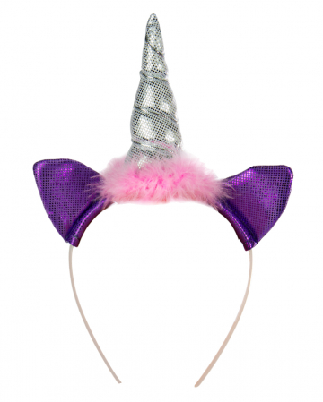 Einhorn Haarreif rosa-violett