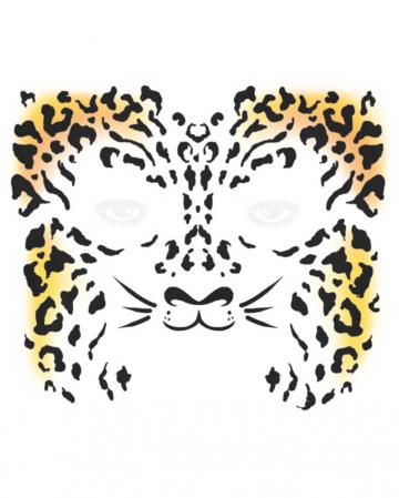 Face Tattoo Cheetah