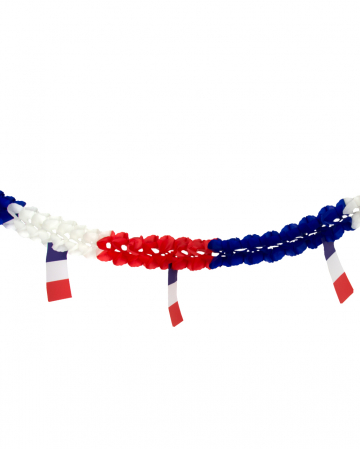 Honeycomb Garland With Flags France 4m
