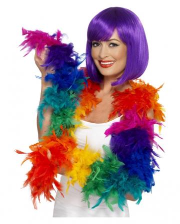 Feather Boa Rainbow 180cm