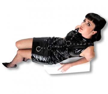 Fetish PVC dress in Bondage Style