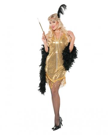 Flapper Sequin Dress Gold