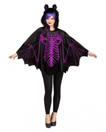 Bat hooded poncho