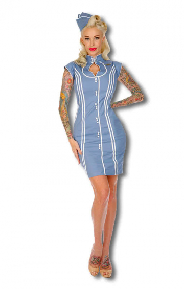 Aviator dress light blue