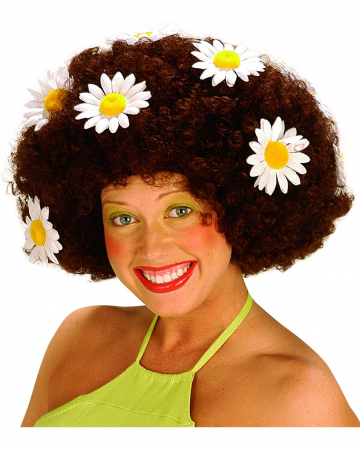 Flowerpower Afro Wig Brown