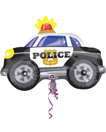 Foil Balloon Police Car 45x60cm