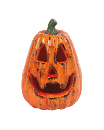 Hoher Grinsender Halloween Kürbis 20 cm