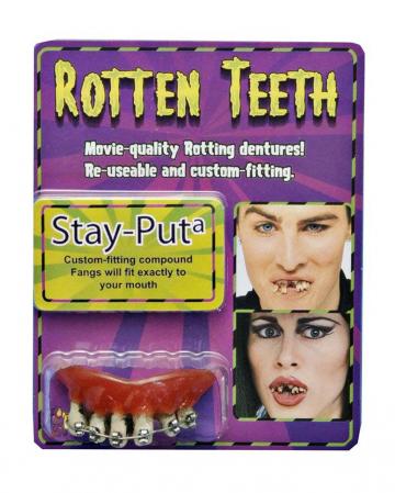 Gammelzähne Scherzgebiss mit Zahnspange