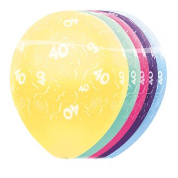 Geburtstag Ballons 40