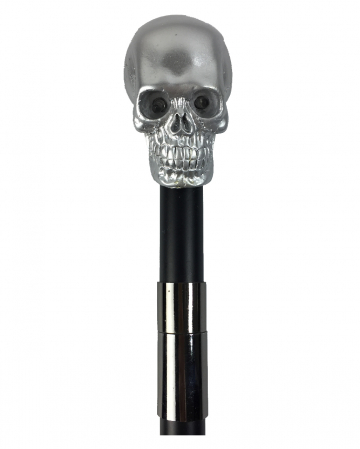 Walking Stick Skull Silver With LED