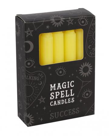 """Yellow """"Success"""" Magic Candles 12 Pcs."""