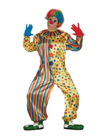 Gelber Clown Jumpsuit mit Punkten