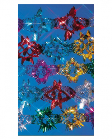 Glitter foil garland colorful