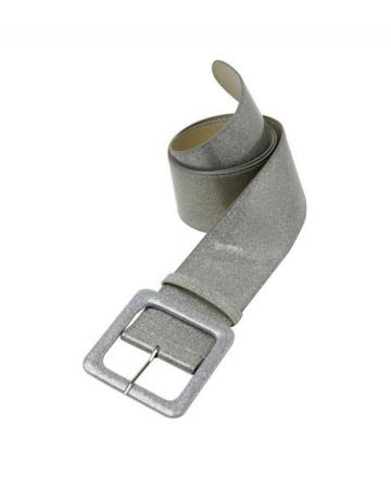 Glitzergürtel mit Silber Glitter