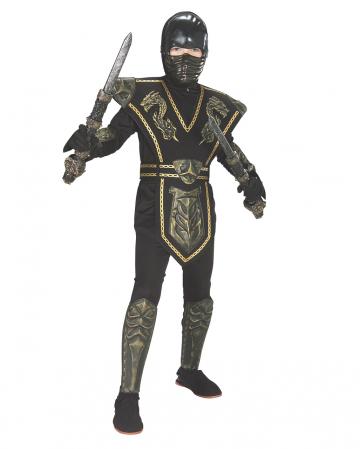 Gold Dragon Ninja Kids Costume