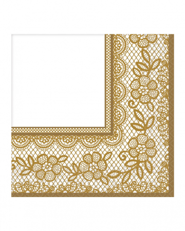 Gold Ornament Serviettes 16 St