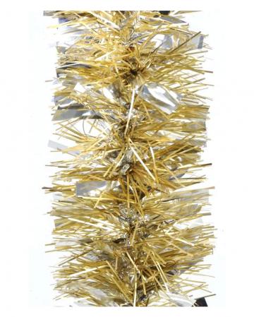 Tinsel garland gloss / matt - Bright Gold 2,7m