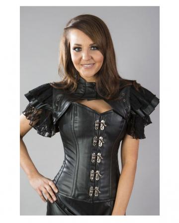 Gothic Bolero leather optic black