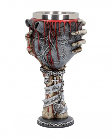 Gothic Goblet With Bloody Black Heart