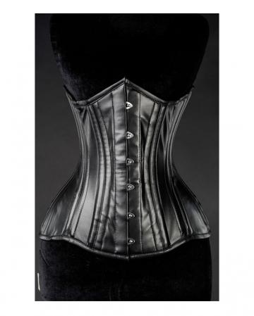 Imitation Leather Gothic Full Bust Corset Black
